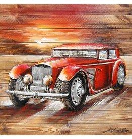 Eliassen Schilderij 3d hout 91x91cm Limo