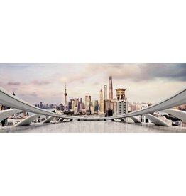 Eliassen Schilderij glas 160x60cm City Sky