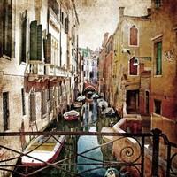 Gemälde Glas 80x80cm Venedig