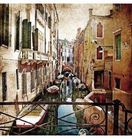 Eliassen Painting glass 80x80cm Venice