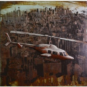 Eliassen 3D painting 80x80cm Helicopter