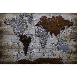 Eliassen 3D-Malerei 90x60cm Weltkarte