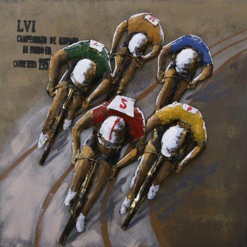 Eliassen 3D painting 80x80cm cyclists job