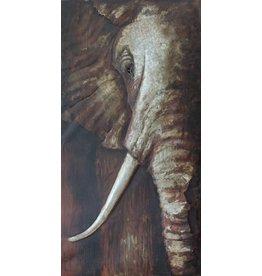 Eliassen 3D schilderij  75x150cm Olifant