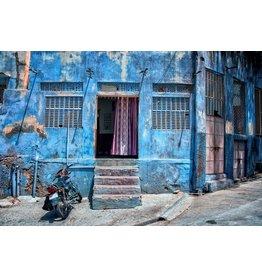 Ter Halle Glasmalerei 80 x 120 Blaues Gebäude