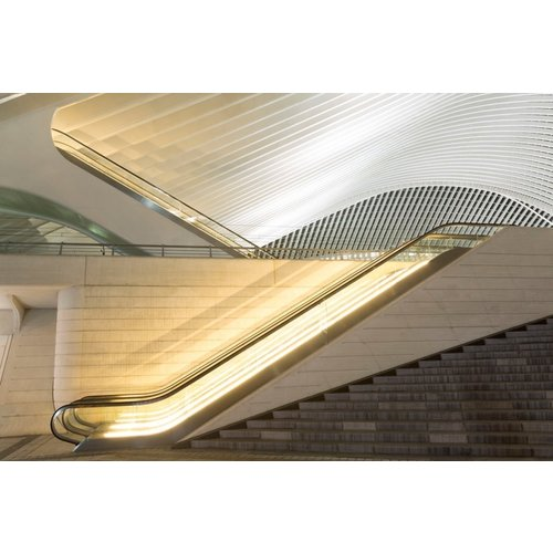 Ter Halle Glasmalerei 80 x 120 cm Rolltreppe