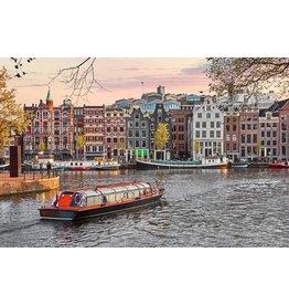 Ter Halle Glasmalerei 80 x 120 cm Hafen von Amsterdam