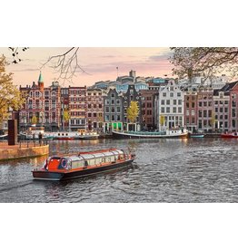 Ter Halle Glasschilderij 80 x 120 cm  Amsterdamse haven