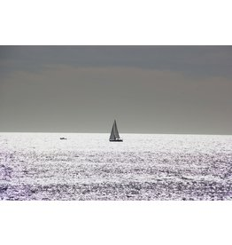 Ter Halle Glass painting 80 x 120 cm Sailing boat at sea