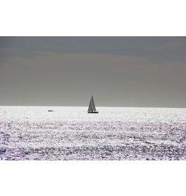 Ter Halle Glasschilderij 80 x 120 cm Zeilboot op zee