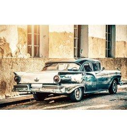 Ter Halle Glasmalerei 80 x 120 cm Blaues Auto