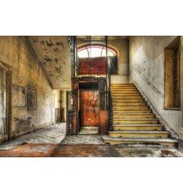 Ter Halle Glasmalerei 80 x 120 cm Aufzug