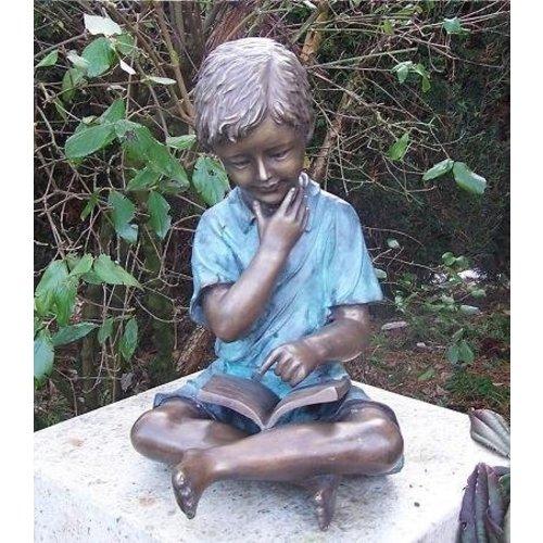 Eliassen Image bronze boy with book