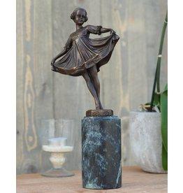 Eliassen Beeld brons meisje Art Nouveau