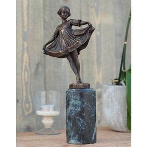 Eliassen Girl Art Nouveau bronze