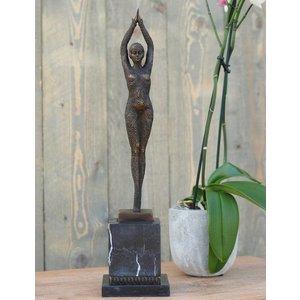 Eliassen Beeld brons vrouw art deco 48 cm