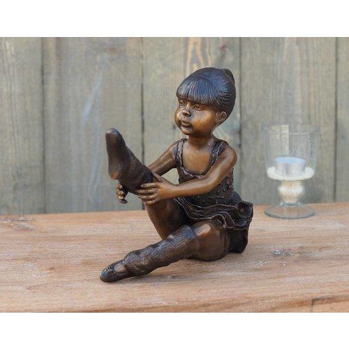 Eliassen Beeld brons zittende ballerina