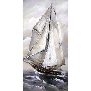 Eliassen Oil painting Rough sea 164x84cm