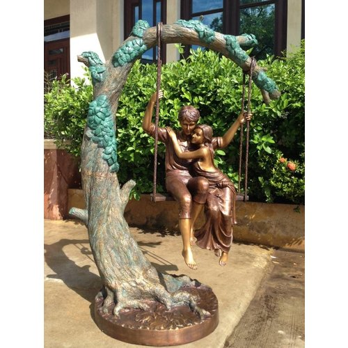 Eliassen Bronzen koppel op schommel