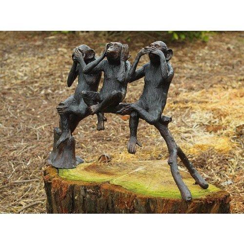 Eliassen Bronzen aapjes op een stam