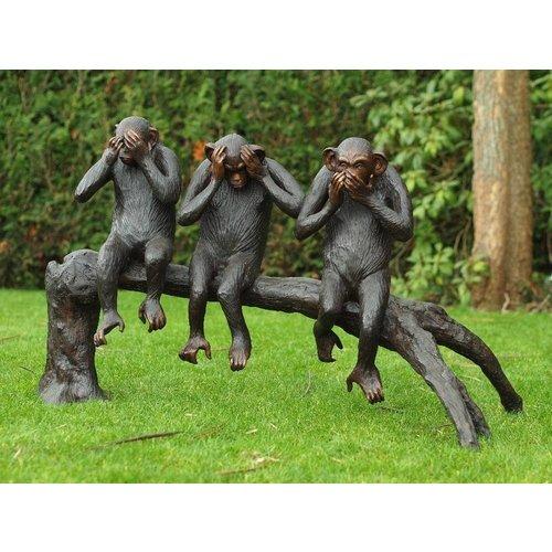 Eliassen Bronzen aapjes op boomstronk