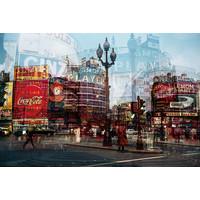 Glasschilderij 110 x 160 cm City