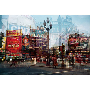 Ter Halle Glasschilderij City 110 x 160 cm.