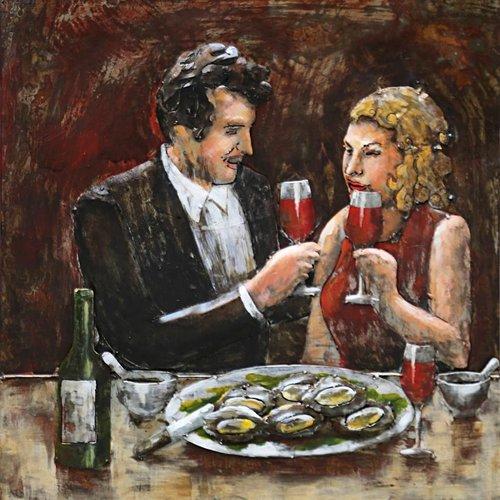 Eliassen Painting 3d iron 60x60cm Romance