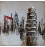 Eliassen 3D Gemälde Leinwand 80x80cm Pisa