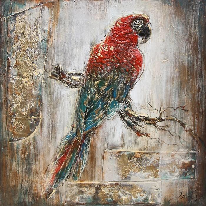 Eliassen 3D schilderij canvas 80x80cm Ara
