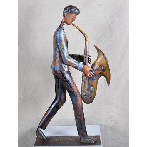 Eliassen Metallbild Saxophonist
