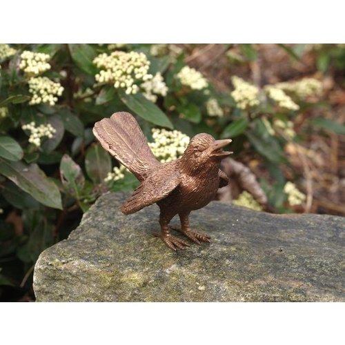 Eliassen Image bronze bird with spread wings