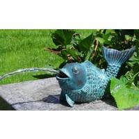 Beeld spuitfiguur brons vis