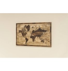 Eliassen World map in wood 50x75cm