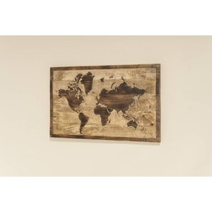 Eliassen Weltkarte aus Holz 50x75cm