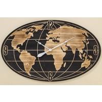 Wall clock oval Wordwide BIG