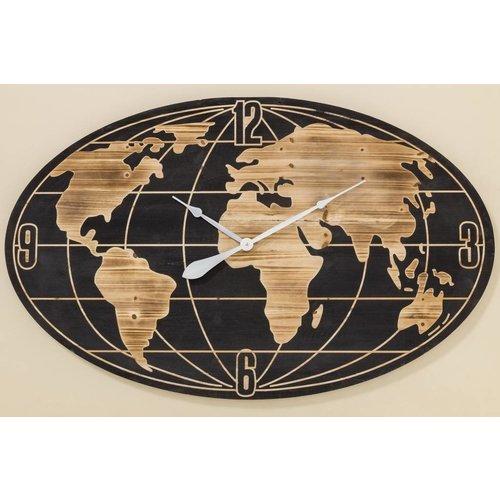 Eliassen Wall clock oval Wordwide BIG