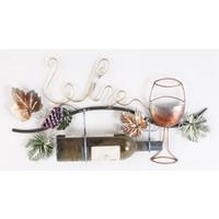 Wanddekoration Wein