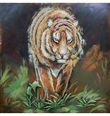 Eliassen Metal 3d painting Parrots 100x100cm - Copy