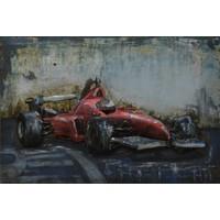 Schilderij 3D ijzer 60x40cm Ferrari