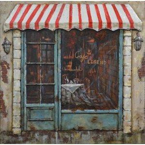 Eliassen Painting 3D iron 60x60cm Cafe