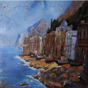 Eliassen Metalen schilderij 3d 100x100cm Gibraltar