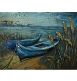 Eliassen 3D schilderij metaal 75x100cm 2 Boten
