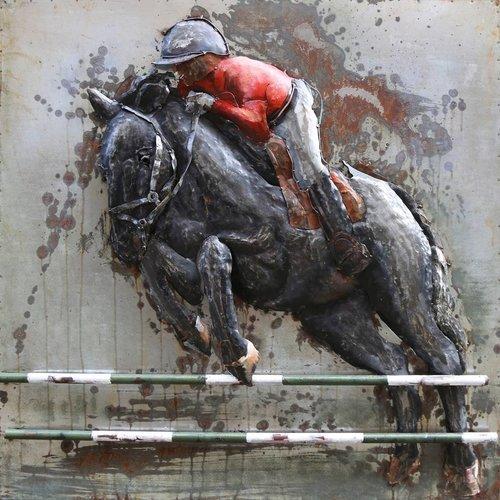 Eliassen Painting metal 3d 100x100cm Barrage