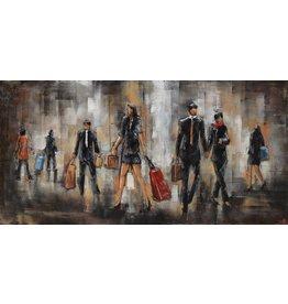 Painting 3d metal 60x120cm People