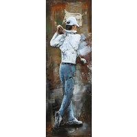 Gemälde Metall 3d 40x120cm Golf Swing