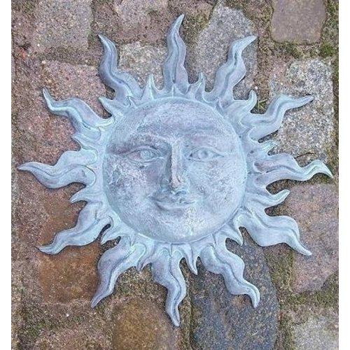Eliassen Wanddekoration Bronze kleine grüne Sonne