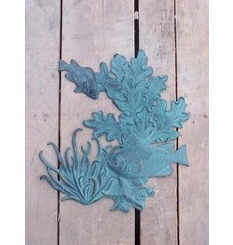 Eliassen Wall decoration bronze fish and coral