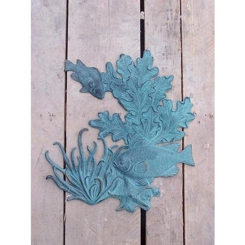 Eliassen Muurdecoratie brons vissen en koraal