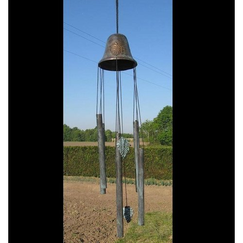 Eliassen Wind chimes bronze big bell with grapes